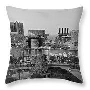 Black And White Baltimore Throw Pillow