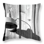 Black And White Barn Fixture 2 Throw Pillow