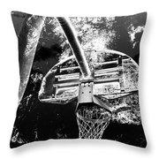 Black And White Basketball Art Throw Pillow