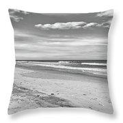Black And White Beach Throw Pillow