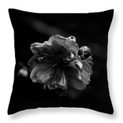 Black And White Bloom Throw Pillow