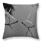 Black And White Bridge Throw Pillow