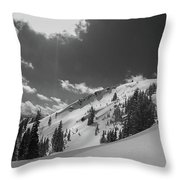 Black And White Brighton Throw Pillow