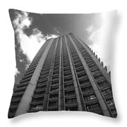Black And White Brutalist Barbican Throw Pillow