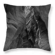 Black And White Buckskin Gulch Throw Pillow
