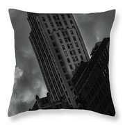 Black And White Buildings Throw Pillow