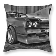Black And White Capri In Hdr Throw Pillow