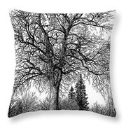 Black And White Christmas Throw Pillow