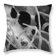 Black And White Clownfish Throw Pillow