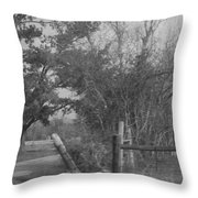 Black And White Country Scene Throw Pillow