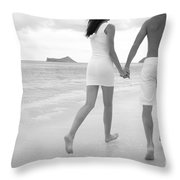 Black And White Couple Throw Pillow by Brandon Tabiolo - Printscapes