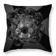 Black And White Crystal Throw Pillow