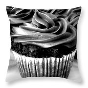 Black And White Cupcakes Throw Pillow