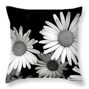 Black And White Daisy 2 Throw Pillow