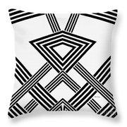 Black And White Diamond Throw Pillow
