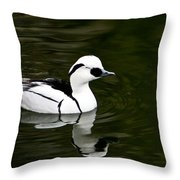 Black And White Duck Throw Pillow