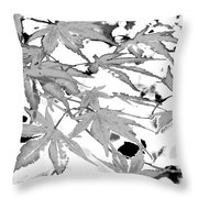 Black And White Equalized Throw Pillow