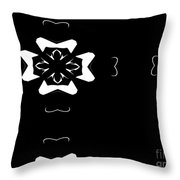 Black And White Flower Abstract Throw Pillow