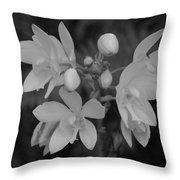 Black And White Flower Throw Pillow