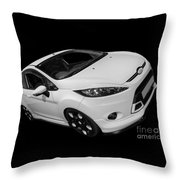 Black And White Ford Fiesta Throw Pillow