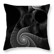 Black And White Fractal 080810 Throw Pillow
