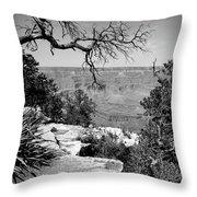 Black And White Grand Canyon 2 Throw Pillow