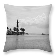 Black And White Lighthouse Throw Pillow