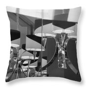 Black And White Lights Throw Pillow