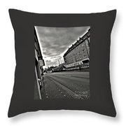 Black And White Lonely Road Throw Pillow