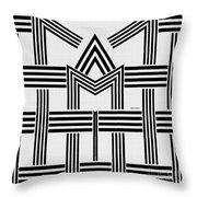 Black And White M Throw Pillow