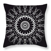 Black And White Mandala No. 1 Throw Pillow