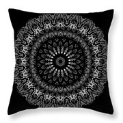 Black And White Mandala No. 2 Throw Pillow