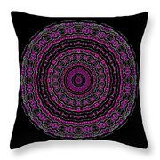 Black And White Mandala No. 3 In Color Throw Pillow