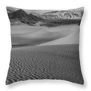 Black And White Mesquite Sand Dunes Throw Pillow