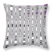 Black And White Metal Panel Abstract Throw Pillow