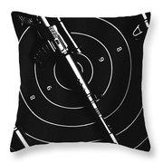 Black And White Military Marksman  Throw Pillow