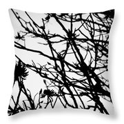 Black And White Of Red Throw Pillow