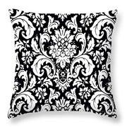 Black And White Paisley Pattern Vintage Throw Pillow