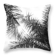 Black And White Palm Trees Throw Pillow