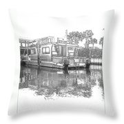Black And White Party Boat Throw Pillow
