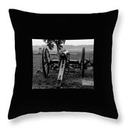 Black And White Photo At The Angle Throw Pillow