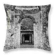 Black And White Photograph Beaufort Historic Church - Chapel Of The Ease Throw Pillow