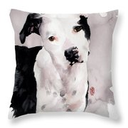 Black And White Pit Throw Pillow