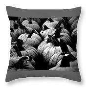 Black And White Pumpkins Throw Pillow