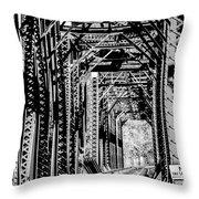 Black And White Railroad Throw Pillow