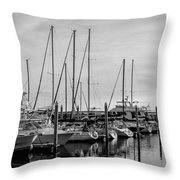 Black And White Reflections Throw Pillow