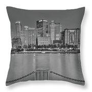 Black And White Riverfront 2017 Throw Pillow