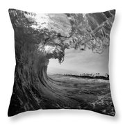 Black And White Room Throw Pillow