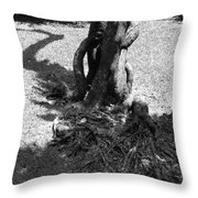 Black And White Roots Throw Pillow