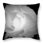 Black And White Rose Of Sharon Throw Pillow